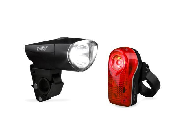 Ibera BV Bicycle Super Bright 1-Watt Headlight and 1/2 Watt Taillight, Quick-Release, Water Resistant