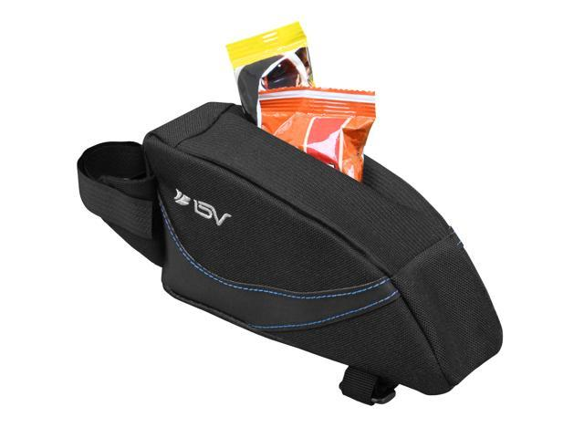 Ibera BV-TB122 Bicycle Wedge Top Tube Bag w/ Concealed Quick-Access Opening, Mesh Pocket, Soft Base