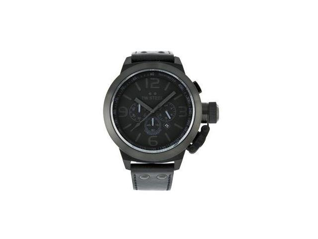 TW Steel Canteen 50 MM Cool Black Black Dial Chronograph Mens Watch TW821