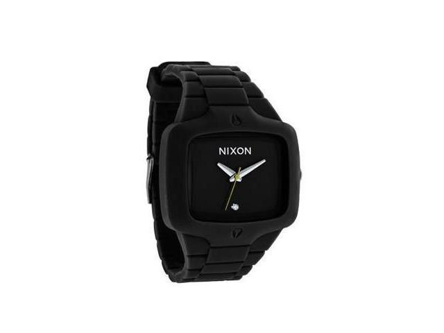 Nixon Rubber Player Black Dial Polycarbonate Strap Mens Watch A139000