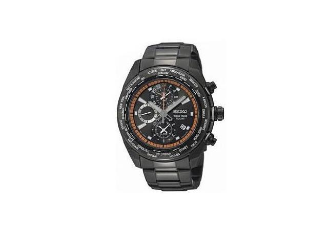 Seiko Criteria Mens World Timer Quartz SS