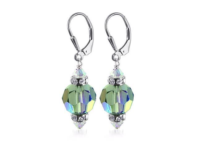 SCER277 10mm Vitrial Crystal .925 Silver Earrings with Swarovski Elements®