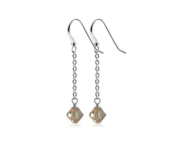 SCER381 Light Colorado Topaz Swarovski Elements® Crystal .925 Silver Earrings