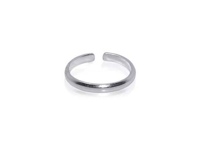 Pretty 1mm Wide Plain Toering Sterling Silver Toe Ring