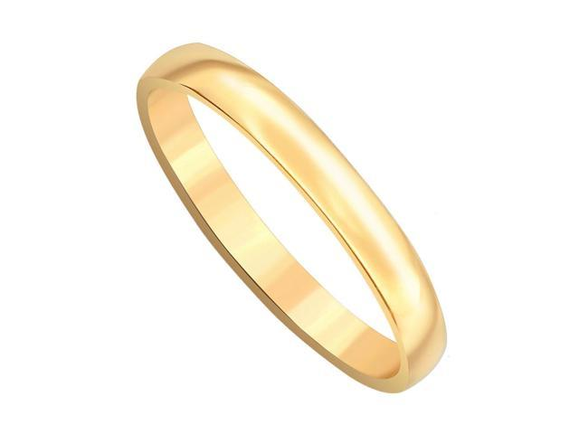 10k Yellow Gold Comfort Fit 3mm Wide Plain Wedding Engagement Band