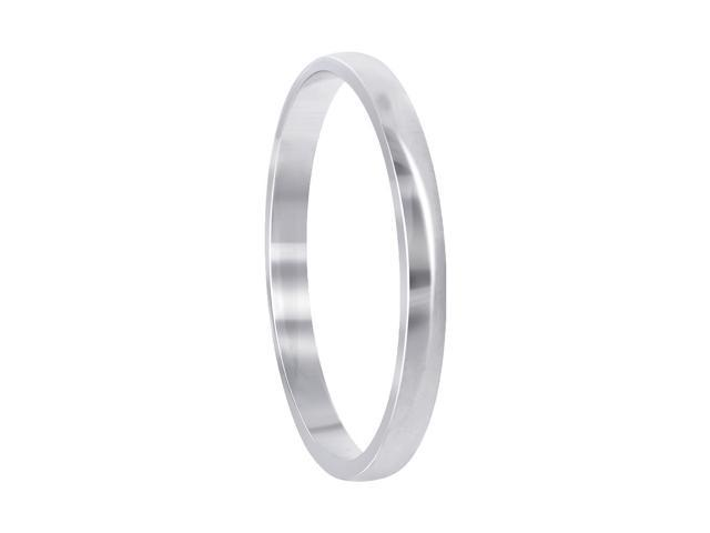 14k White Gold Comfort Fit 3mm Wide Plain Wedding Engagement Band