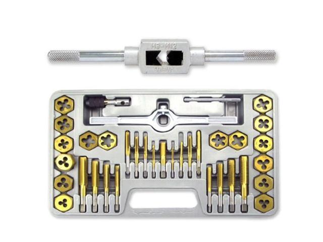Neiko Titanium Coated Tap & Hexagon Die Set - 40 Pieces - Metric