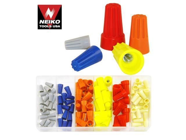 Neiko Wire Nut - Connector Assortment - 107 Pieces, with Plastic Storage Case