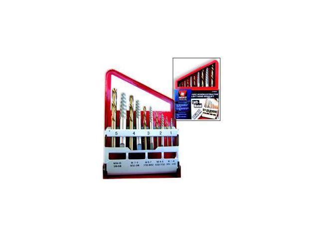 Neiko Screw Extractor Set with Left Hand Cobalt Drill Bit, 10-Piece