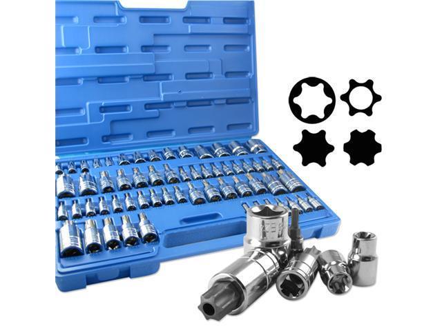 Neiko Master E-Torx Socket and Torx Bit Socket Set, 60-Piece