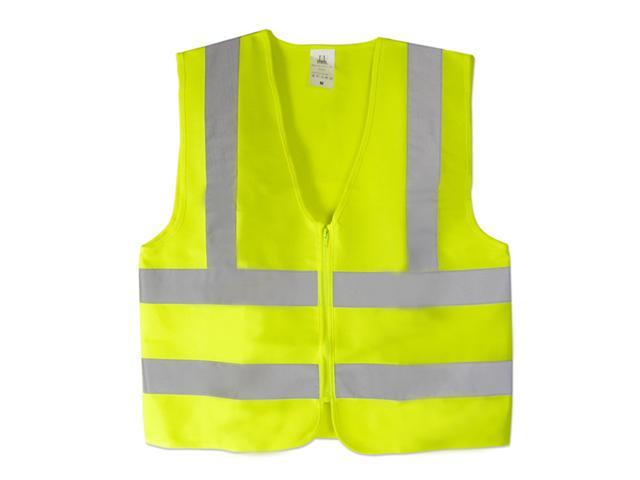 Neiko High Visibility Neon Green Zipper Front Safety Vest with Reflective Strips - Medium -  Meets ANSI/ISEA Standards
