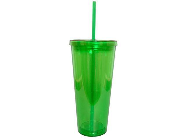 BPA-Free 20-Ounces Acrylic Tumbler with Straw, Double Wall