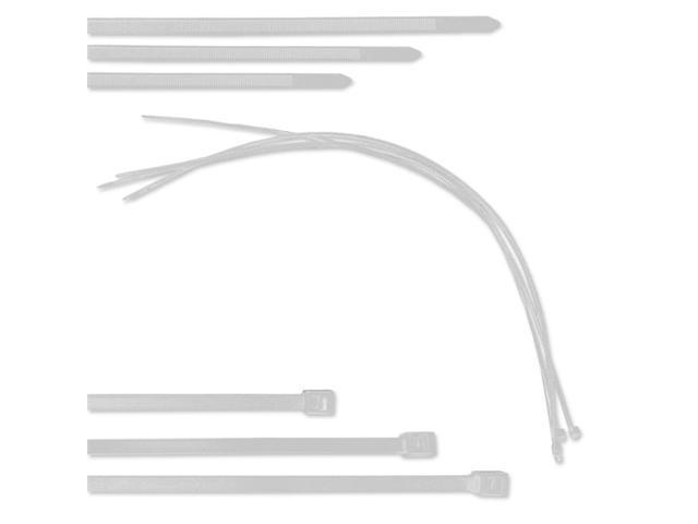 Neiko 7-Inch Cable Ties - Pack of 100, Made in USA