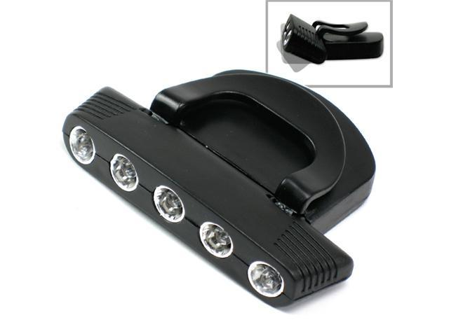 5 LED Cap Clip on Tilt Lamp Light Hands Free Tool