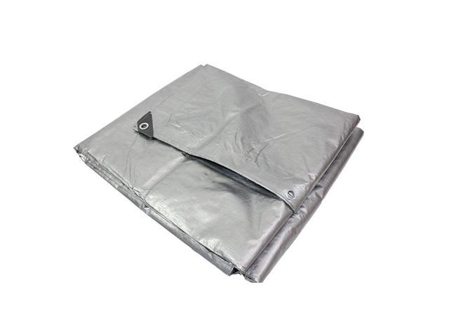 Capri Tools 10 x 24 Foot Heavy Duty 3 Layers Silver Tarp