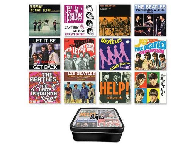 The Beatles Albums 12-Piece Magnet Set with Tin Box