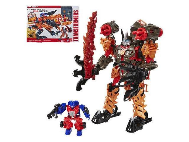 Transformers Constructbots Grimlock with Optimus Prime