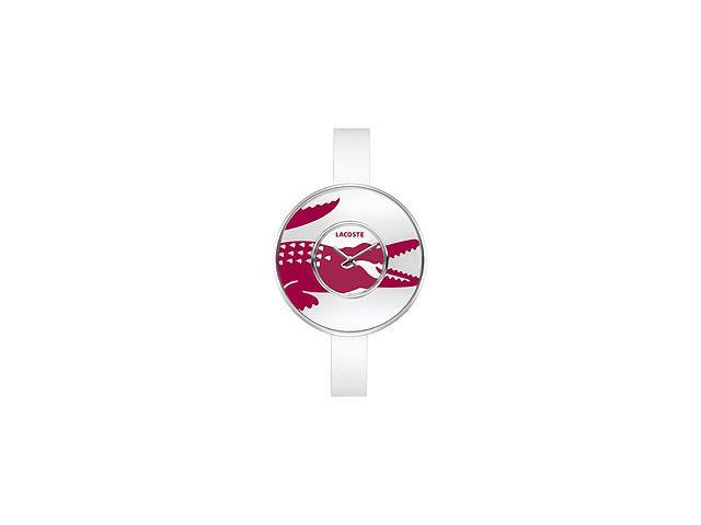 Lacoste Club Collection Figari Leather Strap White Dial Womens watch #2000545