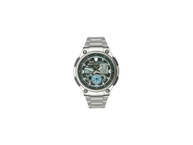 Casio AQ-190WD-1AV Men's Multi-Task Gear Analog & Digital Stainless Steel Watch