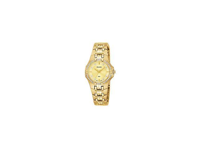 Pulsar by Seiko Two-Hand Gold-Tone Stainless Steel Womens watch #PTC390