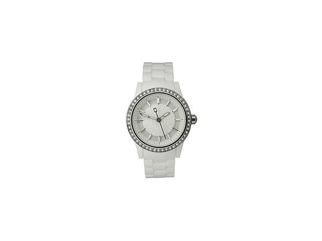 DKNY NY8011 Crystal Collection Plastic Bracelet White Dial Women's Watch