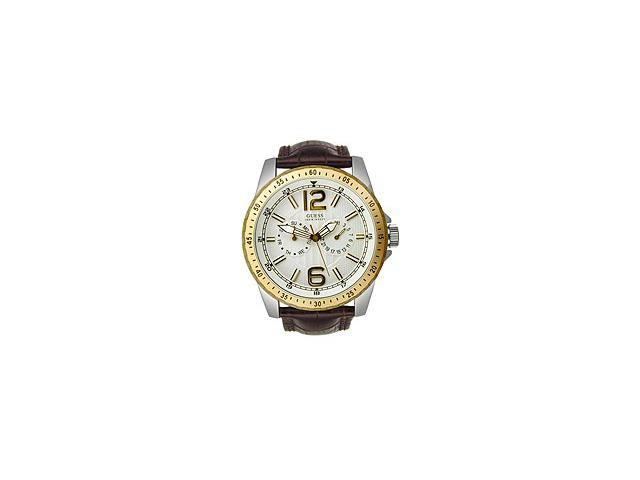 Guess WaterPro Leather Multifunction White Dial Men's watch #U12006G1