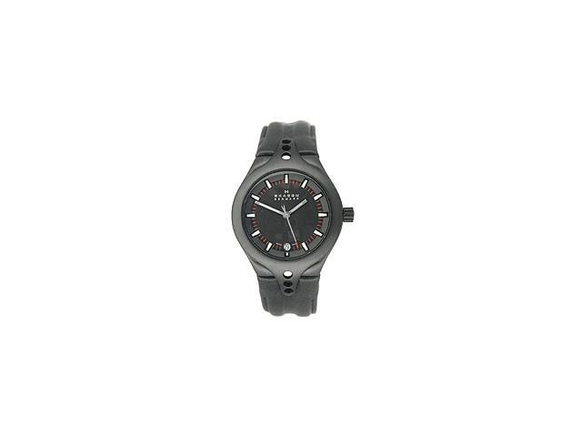 Skagen Team CSC Black Dial Black Leather