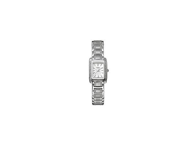 Caravelle Crystal Silver-tone Bracelet White Dial Women's Watch #43L010