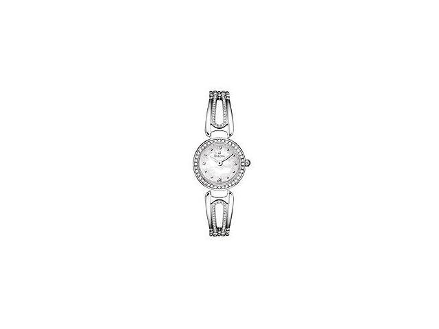 Bulova Crystal Bracelet Mother-of-Pearl Dial Women's Watch #96L126