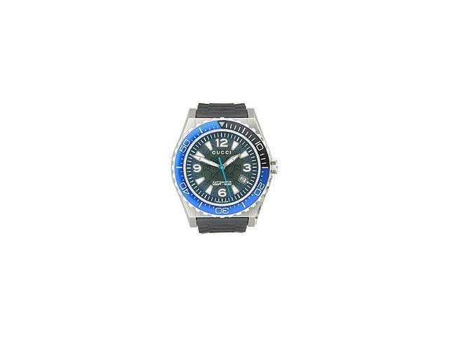 Gucci Pantheon Blue Automatic Diver Black Dial Men's Watch #YA115224