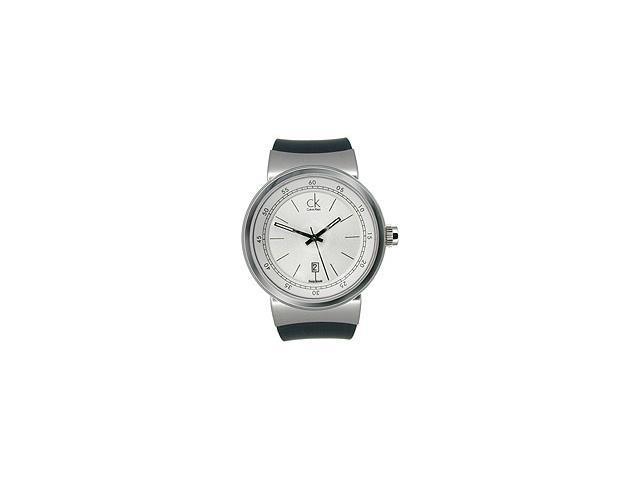 Calvin Klein Celerity Rubber Strap Silver Dial Men's watch #K7551120