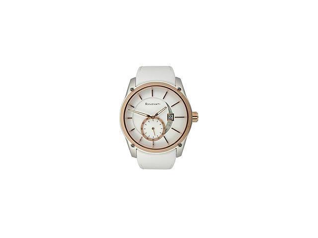Rinovati Fashion Collection Rose-gold White Enamel Dial Women's watch #006