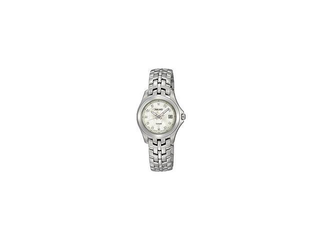 Seiko Diamonds Bracelet Mother-of-pearl Dial Womens watch #SXDC11