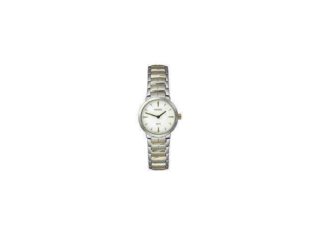 Seiko Two-Tone Bracelet White Dial Women's Watch #SFQ837