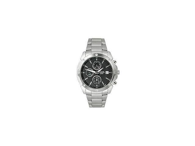 Pulsar Chronograph Steel Bracelet Dark Brown Dial Men's watch #PF8335