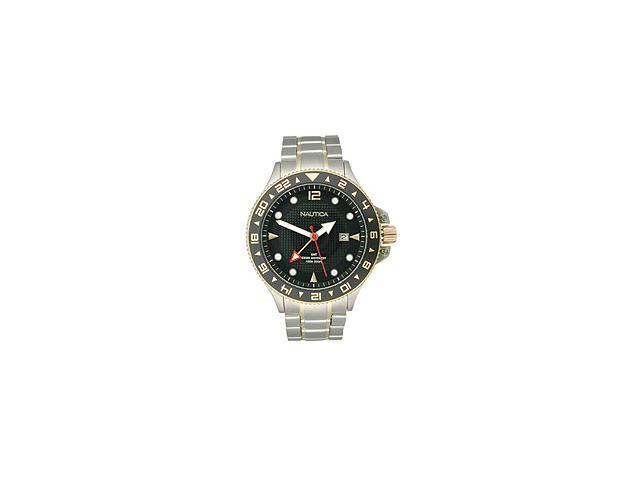 Nautica Greenwich Mean Time Two-tone Bracelet Men's Watch #N24520G