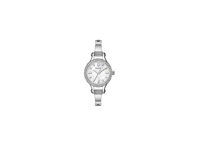 Bulova Crystal Collection White Mother-of-Pearl Dial Women's Watch #96L128