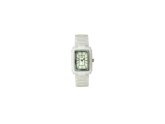 Fossil Women's White Crystal White Ceramic