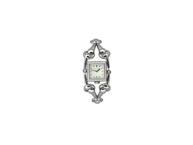 Gucci Signoria Diamond Square Mother-of-Pearl Dial Women's Watch #YA116513
