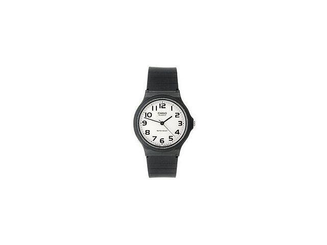 Casio Men's Analog Resin Strap Watch (Black)
