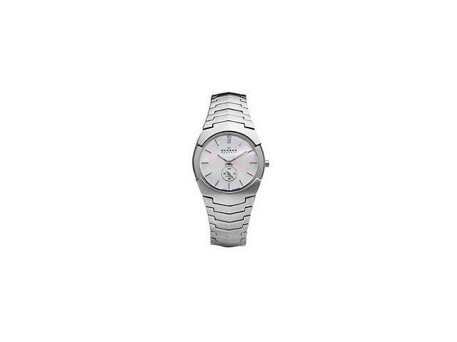 Skagen Denmark White Mother of Pearl Dial Ladies Watch 580SSXD1