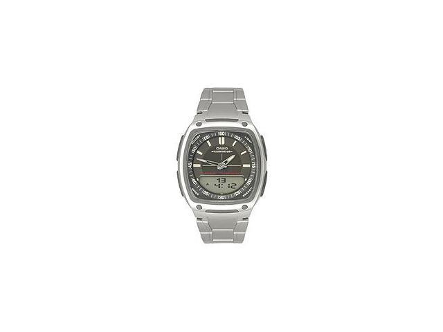 Casio AW81D-1AV Men's Analog & Digital Stainless Steel Watch w/ 10 Year Battery