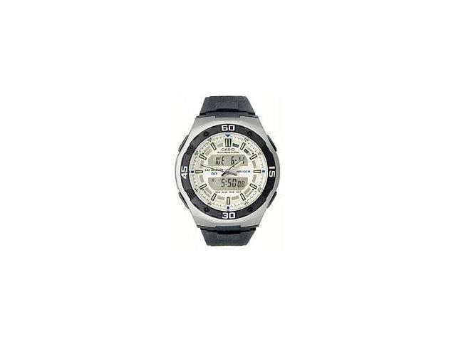 Casio AQ-164W-7AV Men's Analog & Digital 100M Sports Watch w/ Black Resin Band