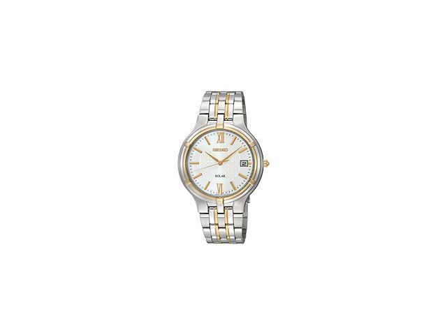 Seiko Solar Date Window White Dial Men's watch #SNE066