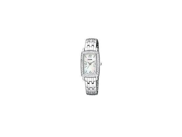 Pulsar Crystal Bracelet White Mother-of-Pearl Dial Women's Watch #PTC505