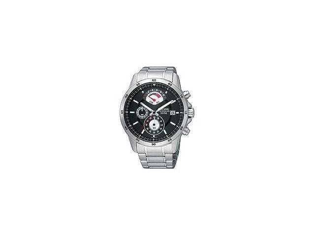 Pulsar Chronograph Steel Bracelet Black Dial Men's watch #PS6019