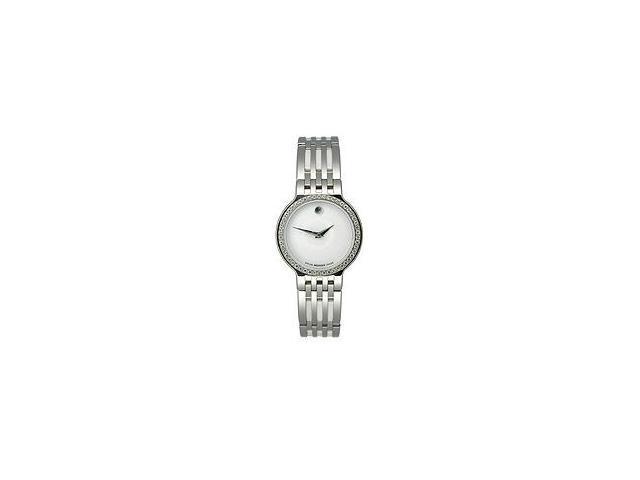 Movado Esperanza Diamonds & Ceramic White Museum Dial Women's Watch #0606072