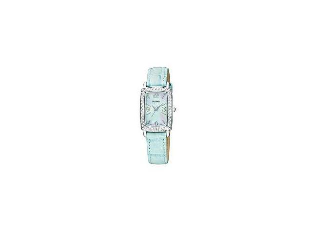 Pulsar Crystal Leather Blue Mother-of-Pearl Dial Women's Watch #PTC501