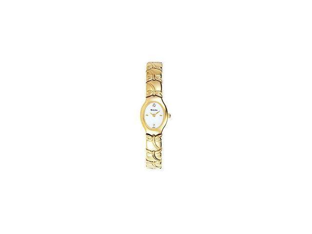 Bulova Diamond Collection Gold-Tone Women's watch #97S75