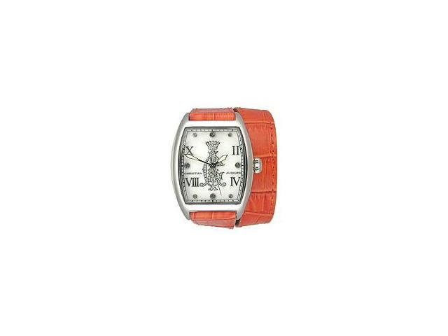 Christian Audigier Analog Collection Entice-Orange Mother-of-pearl Dial Womens watch #SPE-619